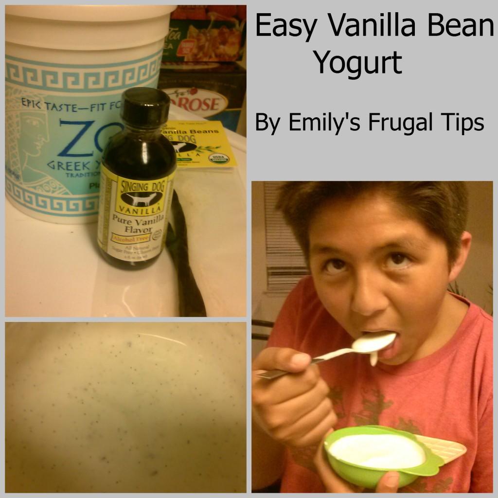 Easy Vanilla Bean Yogurt