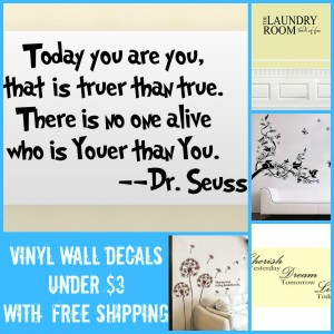 8 Wall Decal Quotes  With Free Shipping