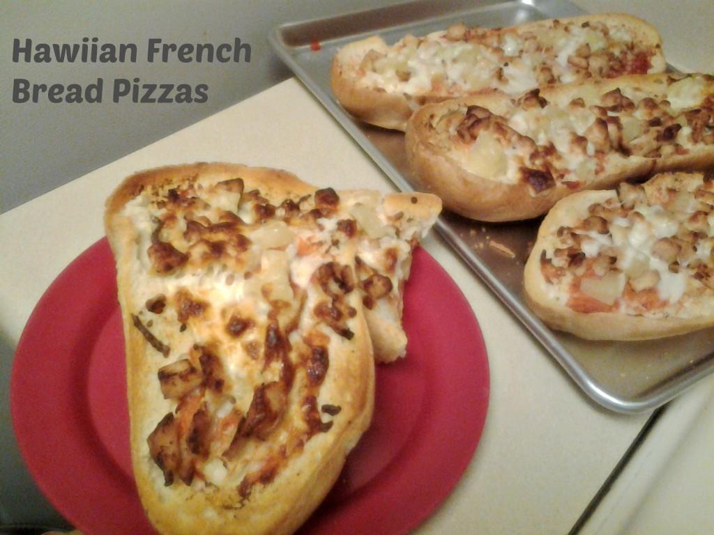 hawaiianfrench bread pizzas