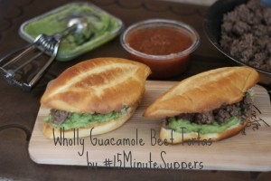 Wholly Guacamole Beef Tortas #15MinuteSuppers #OMGuac