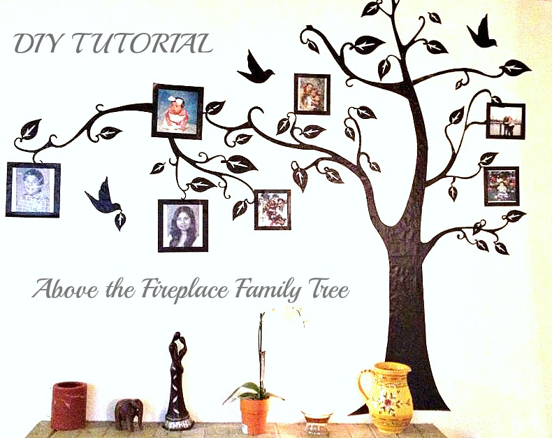 Diy Above The Fireplace Family Tree Diy Crafts