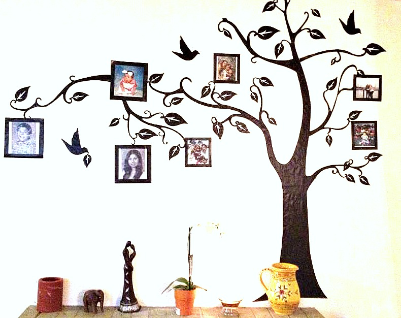 DIY – Above The Fireplace Family Tree #DIY #crafts