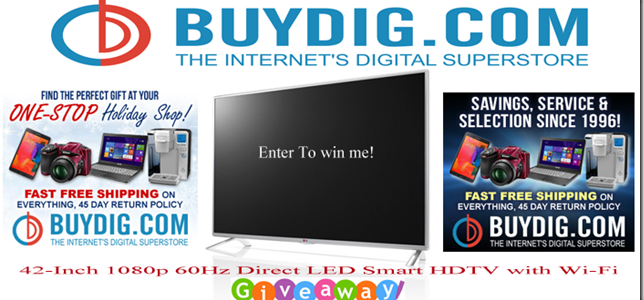 Enter to Win a 42-inch 1080p 60Hz Direct LED Smart HDTV with Wi-Fi