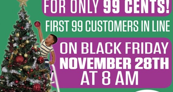 6 Foot Pre Lit Christmas Tree Only .99 Cents on Black Friday