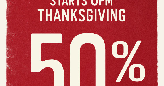 Hollister 50% of Entire Store on Thanksgiving + 70% off Clearance Right Now