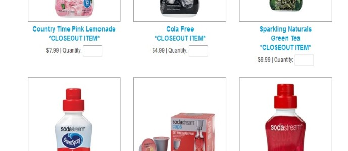 SodaStream Flavors 50% off in Their Outlet Store