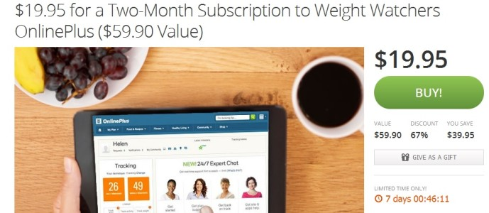 Get 2 Months of Weight Watchers Online for $14.95 After Promo Code