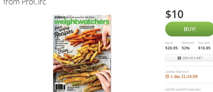 1 Year of Weight Watchers Magazine for $10