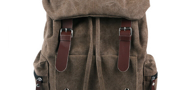 Vintage Brown Canvas & Leather Backpack $22.49 Shipped (Retails for $59)
