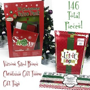 146 Piece Christmas Gifting Value Set – Boxes, Tissue and More $24.99 Shipped