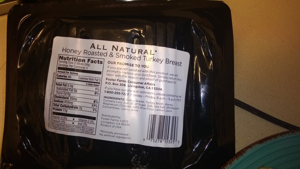 foster farms nutritional information