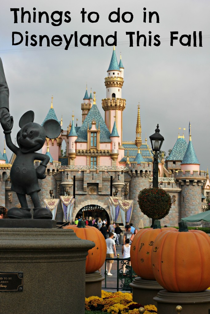 things to do in Disneyland this fall