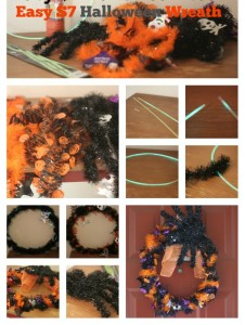 Easy $7 Dollar Halloween Wreath Using Dollar Tree Supplies