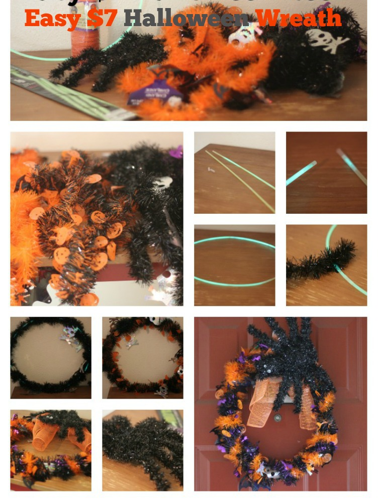easy 7 dollar halloween wreath