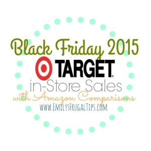 Target Black Friday Specials With Amazon Price Comparisons