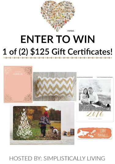 enter to win a minted gift card