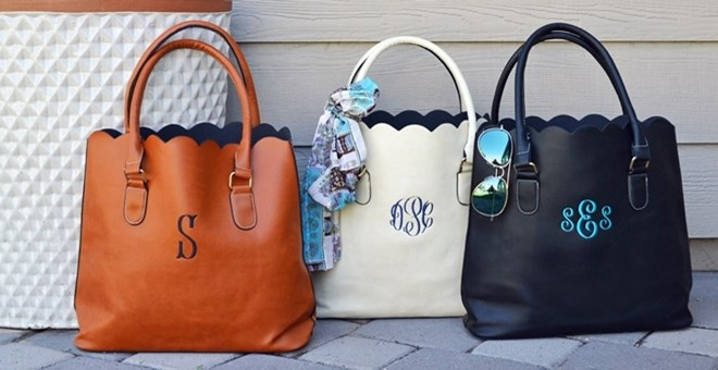 monogramed totes