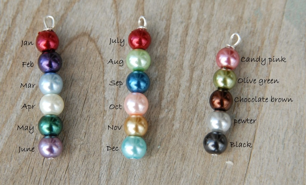 egg colors for necklace