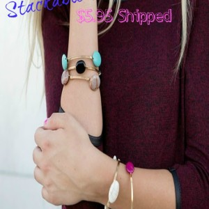 Semi Precious Stackable Stone Bracelets $5.95 Shipped