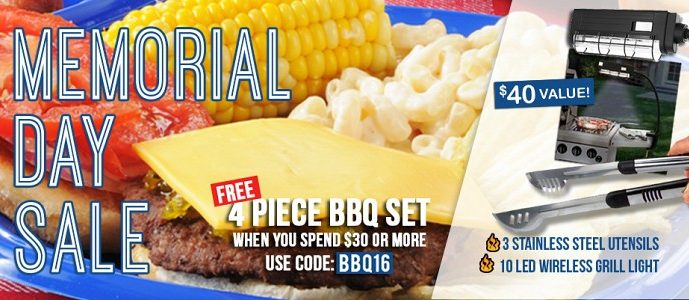 Free BBQ Set ($40 Value) With Any $30 Purchase at Jammin Butter!