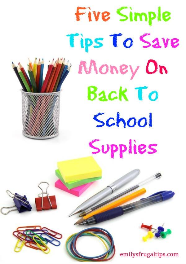 5 simple tips to save on back to school supplies