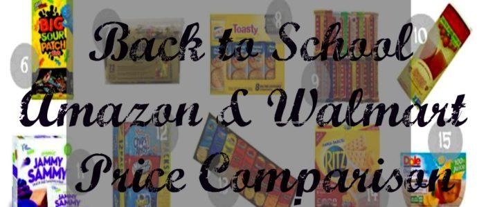 Back to School Snacks Cost Comparisons for Walmart & Amazon
