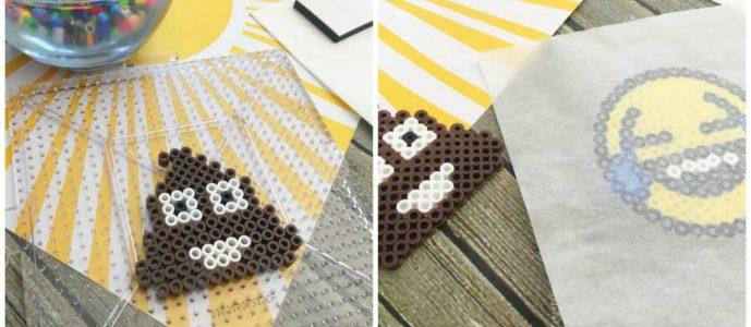DIY Perler Bead Poo Emoji