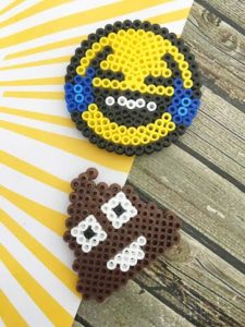 Perler Bead Laughing/Crying Emoji Fridge Magnet