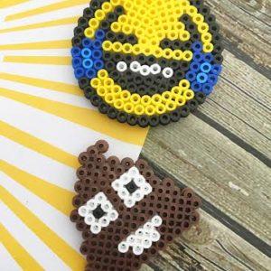 Perler Bead Laughing/Crying Emoji Fridge Magnet
