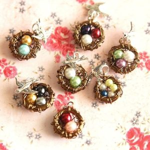 Mama Bird Wire Nest Necklace $7.99