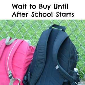 Five Things You Should Wait to Buy Until After School Starts