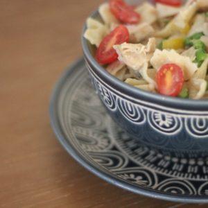 Chicken Pasta in Fresh Greek Yogurt Using Foster Farms Simply Raised Chicken