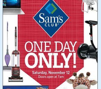 Sams Club 1 Day Sale 11/12