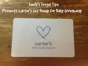 Carter's Gift Card Giveaway