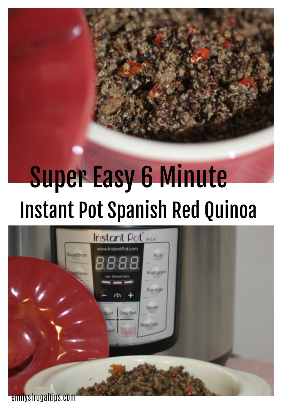 Instant Pot Spanish Red Quinoa